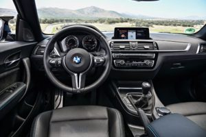 New interior from the BMW M2 competition featuring in Harrington Finance article